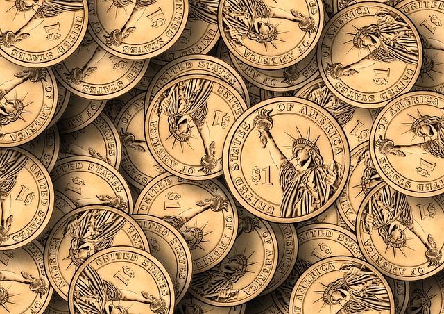 socha svobody na mincích
