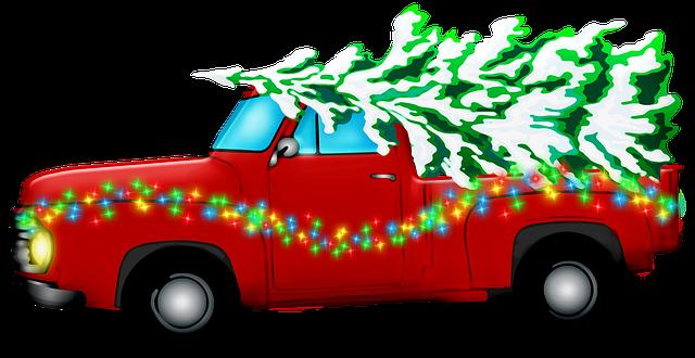 vánoční retro auto