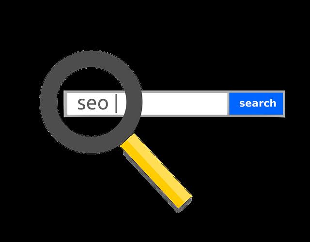 nápis SEO ve vyhledávači
